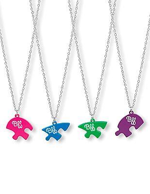 The Children's Place Girls 'BFF' Puzzle Necklace 4-Pack