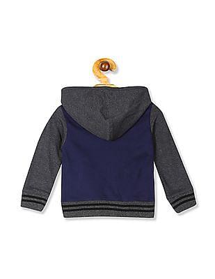 Donuts Navy And Charcoal Boys Hooded Sweatshirt