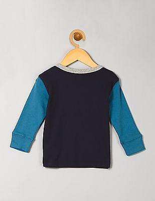 GAP Baby Blue Long Sleeve Colour Block Tee