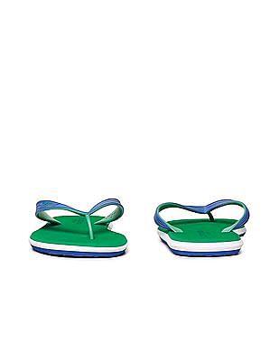 U.S. Polo Assn. Contrast V-Strap Flip Flops