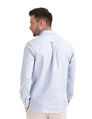 U.S. Polo Assn. Contrast Print Oxford Shirt
