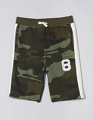 GAP Green Boys Logo Pull-On Shorts