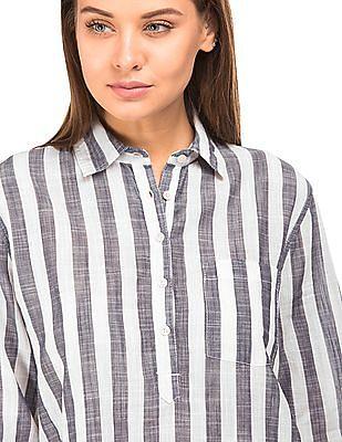 Aeropostale Striped Popover Shirt