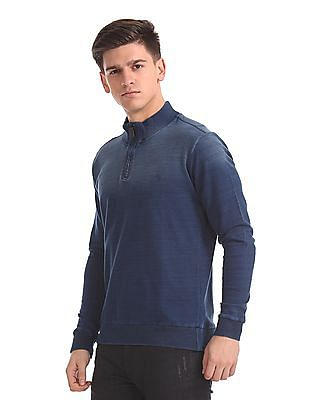Arrow Sports Stone Wash Half Zip Sweatshirt