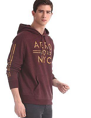 Aeropostale Purple Brand Print Hooded Sweatshirt