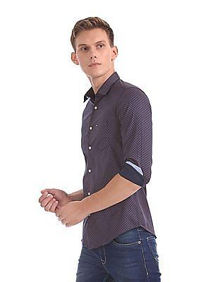 Arrow Sports Manhattan Slim Fit Printed Shirt