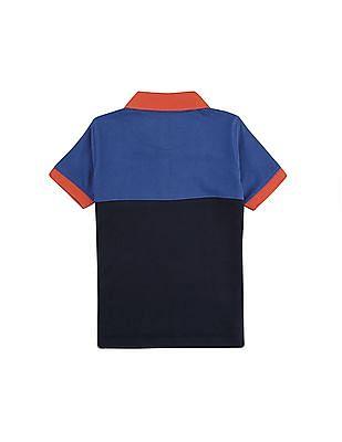 FM Boys Slim Fit Colour Block Polo Shirt