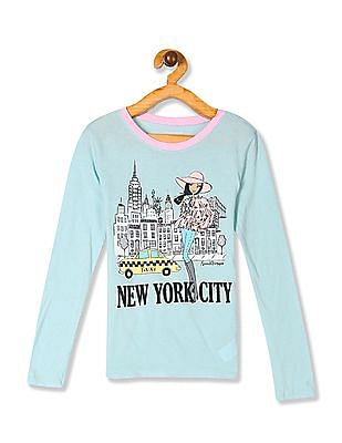 The Children's Place Green Girls New York City Graphic T-Shirt