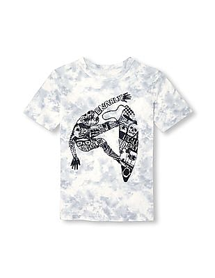 The Children's Place Boys Short Sleeve Tie-Dye Graphic Top