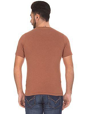Cherokee Printed Front Regular Fit T-Shirt