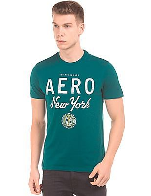 Aeropostale Distressed Printed Cotton T-Shirt