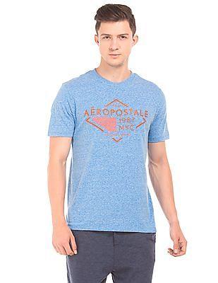 Aeropostale Round Neck Heathered T-Shirt