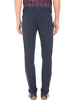 Arrow Sports Textured Slim Fit Trousers