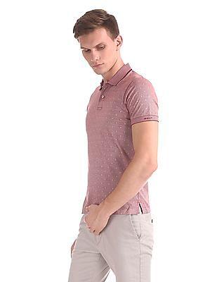 Gant Jacquard Structure Short Sleeve Rugger Polo Shirt