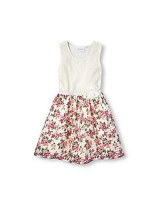 The Children's Place Girls Sleeveless Floral Tutu Dress