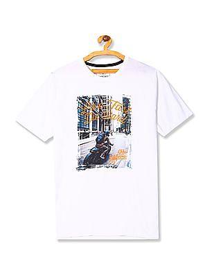 Cherokee Round Neck Graphic T-Shirt
