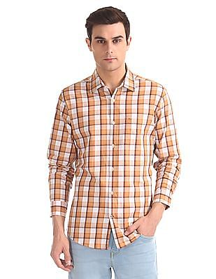 Arvind Modern Slim Fit Check Shirt