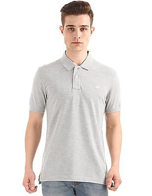 Aeropostale Heathered Regular Fit Polo Shirt