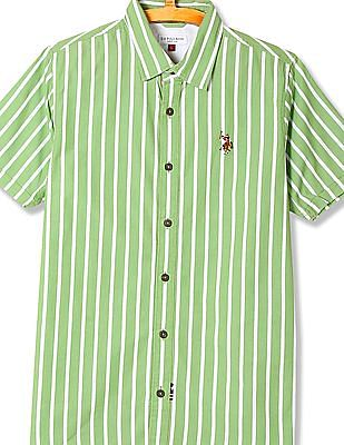 U.S. Polo Assn. Kids Boys Short Sleeve Stripe Shirt