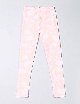 GAP Girls Print Leggings In Stretch Jersey