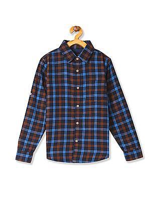 Cherokee Boys Check Cotton Shirt