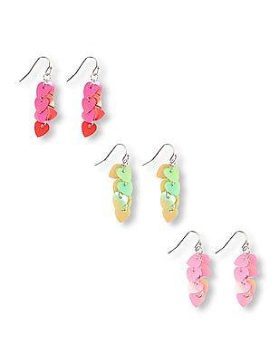 The Children's Place Girls Sequin Earrings - Pack Of 3