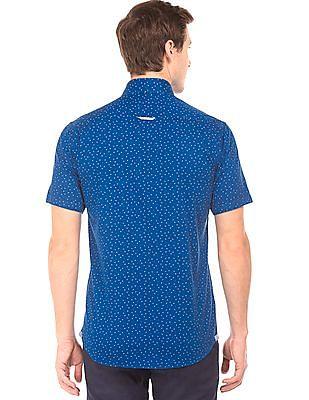 Arrow Sports Triangle Print Regular Fit Shirt