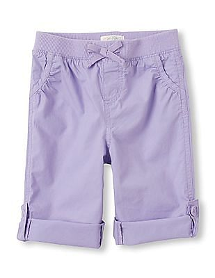 The Children's Place Toddler Girl Purple Roll Up Beach Pants