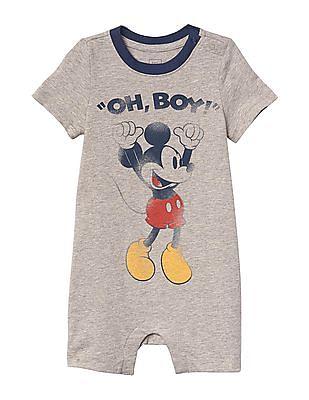 GAP Baby Grey Disney Mickey Mouse Shorty One Piece