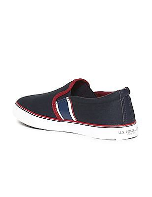 U.S. Polo Assn. Round Toe Canvas Slip On Shoes