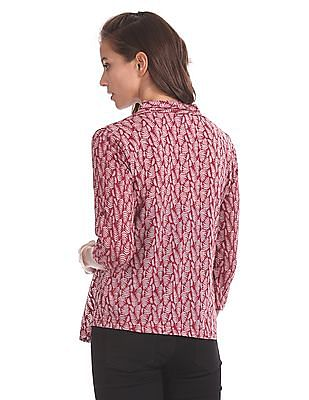 Cherokee Burnout Pattern Open Front Shrug