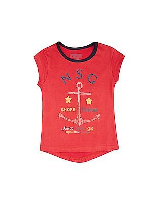 Cherokee Girls Anchor Embellished Top