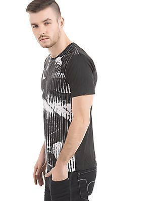 Flying Machine Regular Fit Printed Front T-Shirt