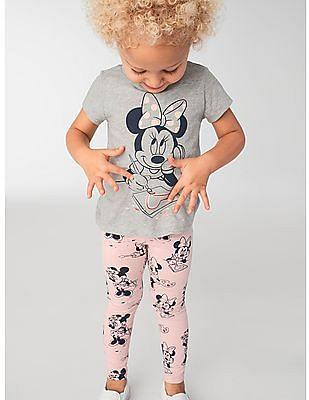 GAP Toddler Girl Grey Minnie Mouse T-Shirt