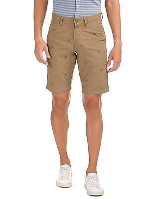 Nautica Anchor Printed Stretch Shorts
