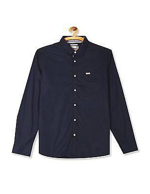 Flying Machine Long Sleeve Solid Shirt