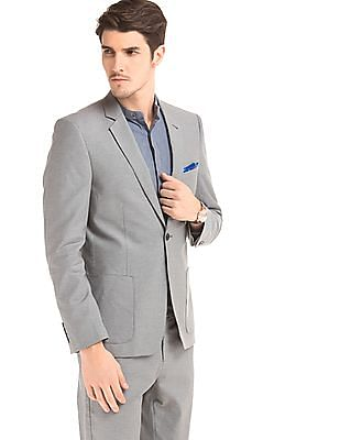 True Blue Slim Fit Single Breasted Blazer