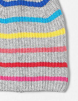 GAP Crazy Stripe Pom-Pom Beanie