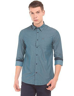 Arrow Sports Printed Cotton Shirt