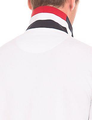 U.S. Polo Assn. Contrast Collar Slim Fit Polo Shirt