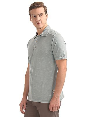 Cherokee Heathered Regular Fit Polo Shirt
