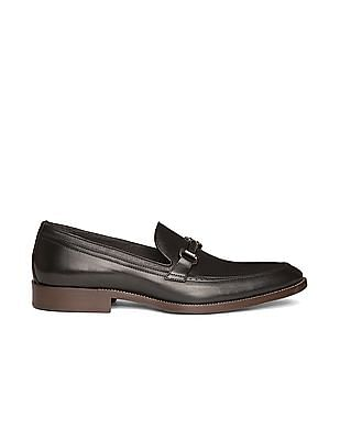Johnston & Murphy Horsebit Trim Textured Leather Loafers