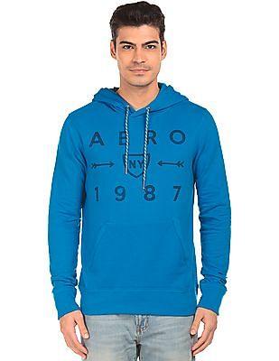 Aeropostale Printed Front Hooded Sweatshirt