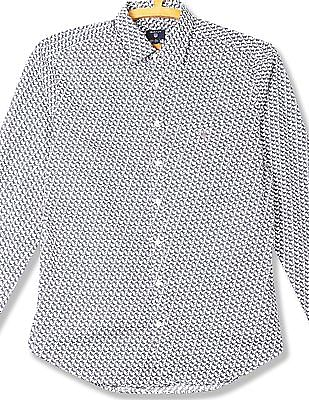 Gant Minileaf Broadcloth Fitted Long Sleeve Town Shirt