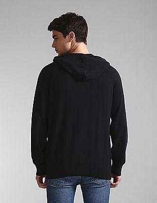 GAP Blue Raglan Sleeve Hooded Logo Sweater