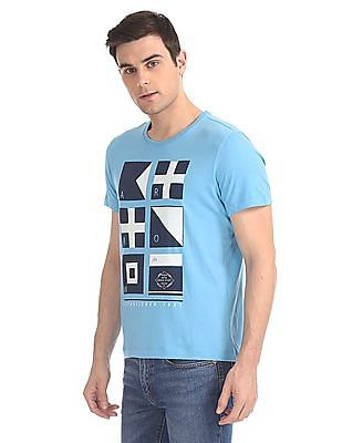 Arrow Sports Distressed Graphic Crew Neck T-Shirt