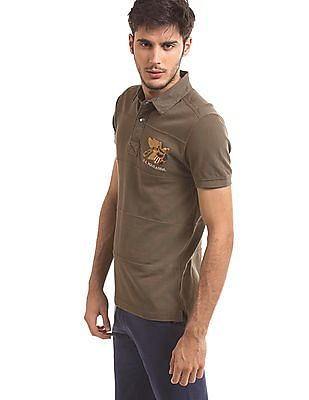U.S. Polo Assn. Denim Co. Panelled Slim Fit Polo Shirt