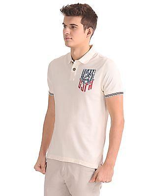 U.S. Polo Assn. Denim Co. Muscle Fit Pique Polo Shirt