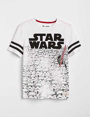 GAP Toddler Boy White Star Wars™ Rugby T-Shirt