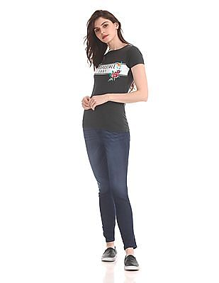Aeropostale Crew Neck Embroidered T-Shirt
